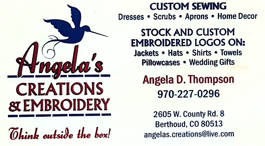 Angelas Creations business card