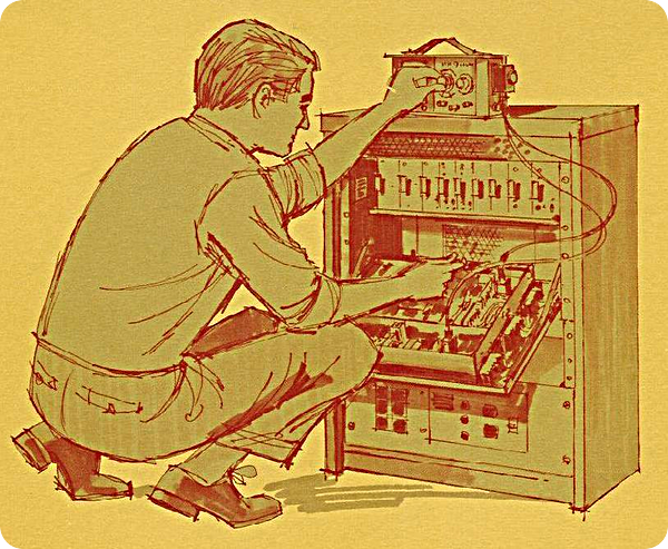 Man working on repeater